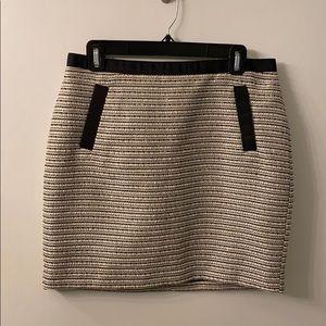 Ann Taylor sparkly silver & black skirt